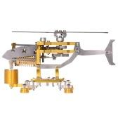 Vacuum Stirling Engine Generator Model 300-1000RPM Transport Helicopter Design   Stirling Engine Motor Kit Science Metal Toy Decor Collection