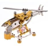Вакуумный генератор двигателя Стирлинга Модель 300-1000 об / мин Транспортный вертолет Дизайн Двигатель Стирлинга Комплект двигателя Science Metal Toy Decor Collection