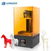 LONGER Orange 30 UV Photocuring 3D Printer Resin SLA Light Curing 3D Printer with 2K High Resolution LCD 2.8 Inch Color Touchscreen Fast Slicing Smart Support High Temperature Warning Off-line Printing 4.72in(L)*2.68in(W)*6.69in(H) Build Size