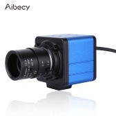 Aibecy 1080P HD Camera Computer Camera Webcam 2 Megapixels 5X Optical Zoom 155 Degree Wide Viewing Manual Focus Auto Exposure Compensation with Microphone USB Plug & Play for Video Conference Online Teaching Chatting Live Webcasting