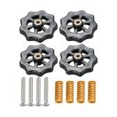 Aibecy 4 pièces écrou de mise à niveau à torsion à main amélioré diamètre 40mm + 4 pièces moule de Compression de lit chauffant