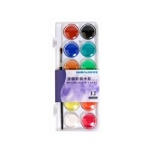 Solid Assorted Watercolor Paint Pigment Portable Drawing Painting Set with a Paintbrush Art Supplies for Artists Beginners Students Kids