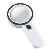 Handheld Magnifier Magnifying Glass Lens 30X with 12 LED Light for Reading Inspection Jewellery Hobbies Crafts
