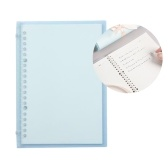 Transparent A5 Refillable Notebook 20 Rings/Holes Loose Leaf Binder Flexible Waterproof PP Cover 30 Sheets Ruled Lined Paper Refillable Binder for Office Home School Students Supplies