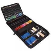 Набор из 95 профессиональных карандашей для рисования и набросков включает масляный цветной карандаш для набросков Уголь, графит, точилка для карандашей, ластик, сумка для хранения, художественные принадлежности, подарок для детей, взрослых, рисование художника, рисование, рисование, каллиграфия