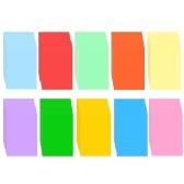 100 листов цветной копировальной бумаги A4 210x297 мм / 8,3x11,7 дюйма Бумага для принтера 70 GSM для копировальной печати Написание и искусство