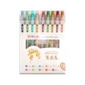 Set di 9 penne a inchiostro gel a colori Set di penne in gel da disegno retrattili 0,5 mm Penna per scrivere nel diario Prendere appunti da colorare Scuola Ufficio Articoli di cancelleria per la casa