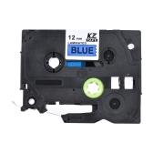Taśma laminowana na etykietę Czarna na czerwonym Kompatybilna z drukarką etykiet P-touch Brother PT-1010 / PT-2100 / PT-18R / PT-E200 / PT-9500 9mm * 8m