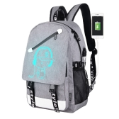 Men Backpack Fashion External USB Charging Laptop Mochila Cartoon Anime Student School Bags For Teenagers Style 1