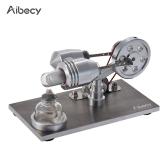 Aibecy Mini Hot Air Stirling Engine Motor Model Generator energii elektrycznej cieplnej Mchine ze światłem LED
