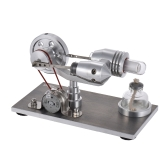 Aibecy Mini Heißluft Stirling Motor Motor Modell Wärme Strom Generator Mchine mit LED-Licht