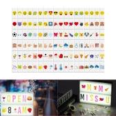 108pcs Símbolos de emoção intercambiáveis coloridos Personagens Cartões Combinação grátis para DIY LED Cinema Light Box Placa de mensagens para aniversário Aniversário Festa de casamento Loja Sinal Crianças estudo