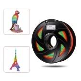 1.75 mm 1 kg / rolo PLA 3D impressora filamento cor mudando (entrega aleatória de cor)