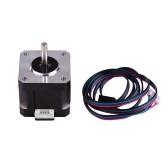 Шаговый двигатель Aibecy 42, 2 фазы, угол шага 0,9 градуса, низкий уровень шума, шаговый двигатель 17HS4401S с кабелем 1 м для 3D-принтера с ЧПУ