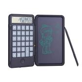 Calculadora portátil Aibecy y tableta de escritura LCD, almohadilla de dibujo digital, pantalla de 12 dígitos