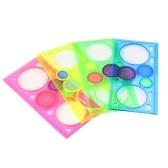 Plastic Geometric Ruler Circle Puzzle Template Magic Spiral