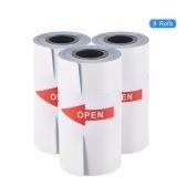 Rolo de papel autocolante para impressão a cores Papel térmico directo com auto-adesivo 57 * 30mm (2.17 * 1.18in) para PeriPage A6 Pocket Impressora térmica para PAPERANG P1 / P2 Mini impressora fotográfica, 1 rolo