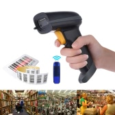 2.4G Wireless Handheld Barcode Scanner Bar Code Reader with Receiver USB Cable for Supermarket Library Express Company Retail Store Warehouse