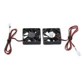 Aibecy 2pcs ventilateur de refroidissement sans balais 40 * 40 * 10mm DC 24V 2 fils