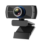 1080P HD Streaming Webcam USB Computer Video Camera 2 Megapixels 100° Wide Viewing Manual Focus