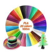 IDRAWING High-Precision 1.75mm PLA Filament Eco-friendly Material 3D Pen Filament Refills 20 Colors (Total 328FT))