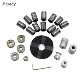 Aibecy 3D Printer Parts Linear Motion Kit LM8UU 608ZZ 624ZZ Bearings Coupler Shaft 20 Teeth Pulley Wheels 2M GT2 Belts