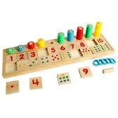 Wooden Math Game Board Number Puzzle Sorting Montessori Toys Educational Learning Tools