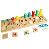 Tableau de jeu de mathématiques en bois Numéro Puzzle Tri Montessori Jouets Outils d'apprentissage éducatif