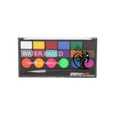 18 Colors Face Body Paint Kit 6 Normal Paints & 6 Pearl Effect Paints & 6 UV Glow Paints with 2 Brushes