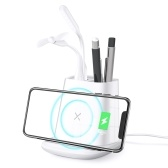 Multi-function Wireless Charger Desk Organizer Pen Holder Storage Mobile Stand
