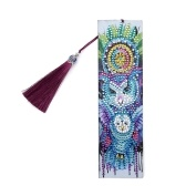 5D Diamond Painting Leather Bookmark with Tassel Special Shaped Diamond Embroidery DIY Bookmark Crafts Gifts