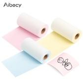 Термобумага Aibecy, 3 рулона, черный на желтом / розовом / синем 53 мм * 6,5 м, Совместимость с термопринтерами Phomemo M02 / M02S