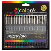 Colore 16Pcs/Set Ultra Fine Tip Micro Line Color Pen Set Painting Drawing Pens Art Supplies