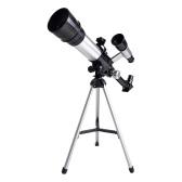 Telescopi per bambini Adulti Principianti Apertura in lega da 50 mm Telescopio rifrattore astronomico Lente obiettivo da 100 mm Ingrandimento 60x con treppiede regolabile Cercatore Compasso Regalo di compleanno per ragazze ragazzi