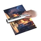 Scanner de cores portátil de monocomando varredor sem fio de varinha sem fio 900dpi recarregável com saco de proteção para o documento Photo Book Recipts Magazine