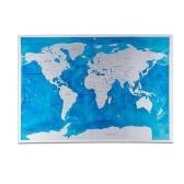 Scratch Off World Travel Mapa Poster Folha De Cobre Adesivo De Parede Jornal Personalizado Log Pequeno Tamanho com Embalagem Do Cilindro