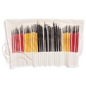 Colore 36Pcs Paint Brush Set Painting Brushes Drawing Painting Supplies for Acrylic Water-color Oil Painting DIY Art Crafts
