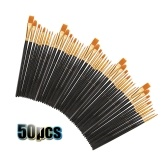 50 PCS Nylon Hair Paint Brushes Set