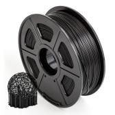 SUNLU PLA + Filamento per stampante 3D 1,75 mm Precisione dimensionale +/- 0,02 mm Bobina da 1 kg (2,2 libbre), nero