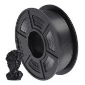 SUNLU Silk PLA Filamento per stampante 3D 1,75 mm Precisione dimensionale +/- 0,02 mm Bobina da 1 kg (2,2 libbre), nero