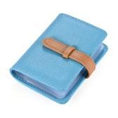 Elegante couro sintético PU Negócios ID Cartão de Crédito Nome do banco caso titular da carteira bolsa com 26 slots de cartão
