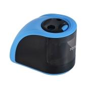 TOTU JD3006-2 Automatic Sharpener elétrico apontador bateria ou adaptador de energia operado com 2 furos (6-8mm / 9-12mm) para Home School Estudante Crianças Crianças Professores Designers Artistas