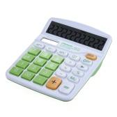 Handheld coloridos Função padrão de desktop calculadora eletrônica solar e duplo alimentado por bateria 12 dígitos Verde