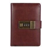 Vintage A7 Pocket Notebooks Journals Planner Agenda Diário Livro com bloqueio de senha Material de escritório Papel de carta criativo para estudantes