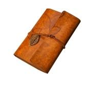 Caderno em branco do vintage 6 furos