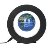 Mapa do mundo de flutuação magnética de levitação magnética de 3,5 polegadas