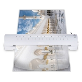 Aibecy A3 Photo/Paper/Document Hot Cold Laminator 2 Rollers Quick Warming Up Fast Laminating Speed Adjustable for Cold/100/125mic Pouch Thickness with Jam Release Button