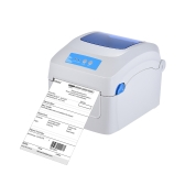 Gprinter GP-1324D Thermal Printer 1D 2D QR Barcode Label Address E-Waybill Printing 8inch Fast Speed 20-118mm Width with External Label Entrance for Express Logistics Warehouse Parcel Post