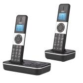D1002 TAM-D Teléfono inalámbrico de 2 auriculares con identificador de llamadas / llamada en espera de contestador automático