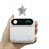ミニBTワイヤレスポケットプリンターポータブルインスタントモバイルプリンター感熱紙レシートプリンターラベルステッカー